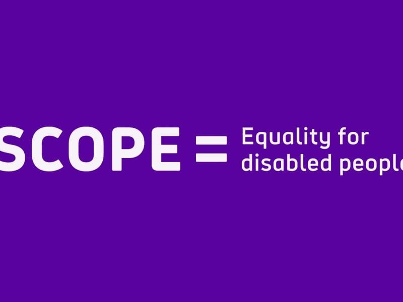 Scope = Equality for Disabled People logo