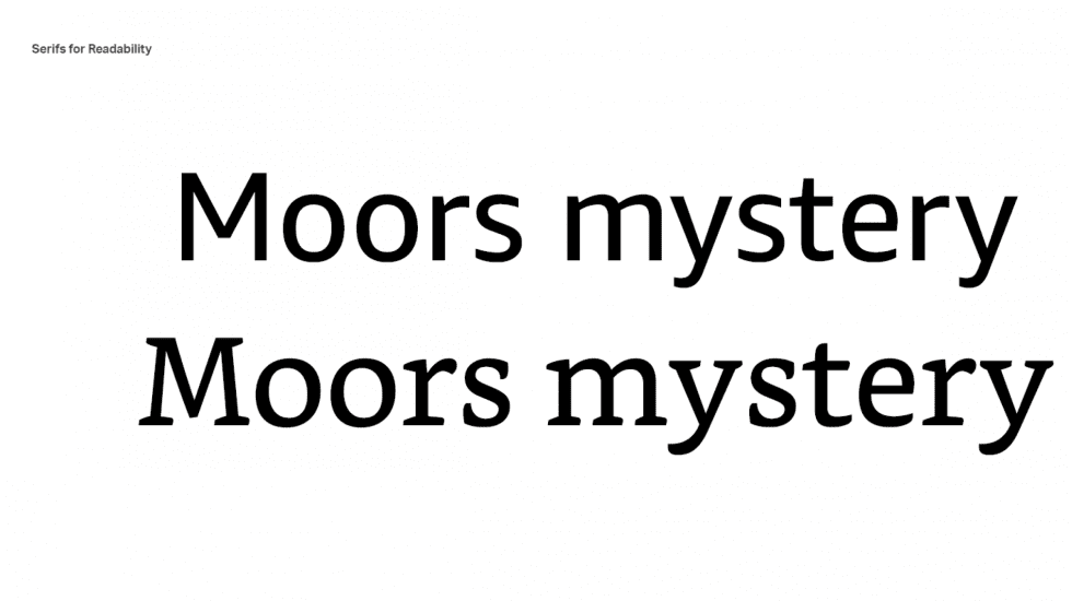 Moors mystery in two fonts