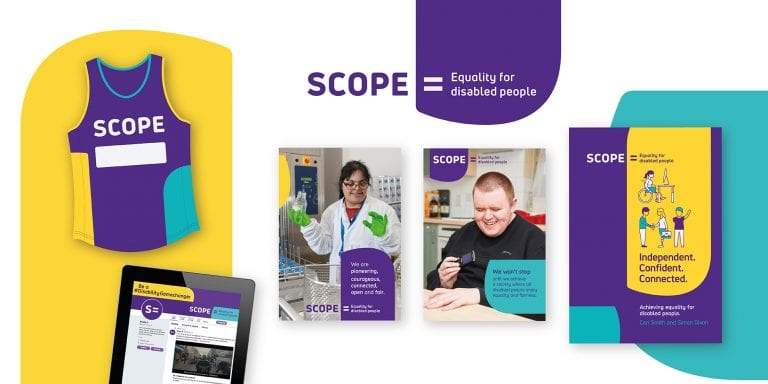 The Team creative branding agency. Scope rebrand accessible design