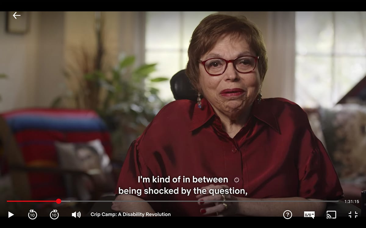 Judith Heumann interviewed for Crip Camp